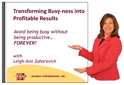 transforming busy-ness